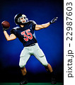 american football player man isolated 22987603