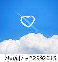 ハートの雲と飛行機 22992015