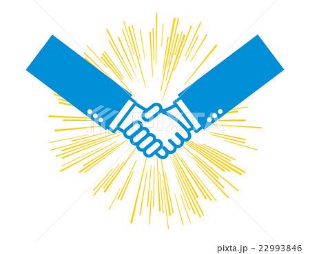ビジネス握手アイコン 効果線のイラスト素材 22993846 Pixta