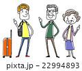 外国人旅行者とシニア夫婦 22994893