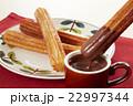 チュロス ホットチョコレート 揚げ菓子の写真 22997344