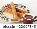 チュロス ホットチョコレート 揚げ菓子の写真 22997345