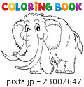 Coloring book mammoth theme 1 23002647