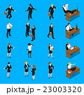Business People Work Isometric Icons Set  23003320