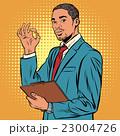 OK gesture black businessman 23004726