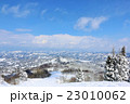 冬の青空 絶景のスキー場 23010062