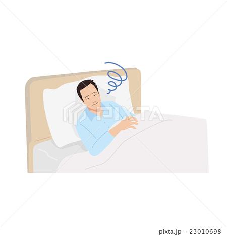 中年男性 寝る イラスト 23010698