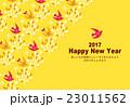 2017年賀状 年賀状 鳥のイラスト 23011562
