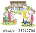 ベクター 高齢者 介護のイラスト 23012708
