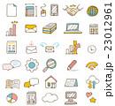 ビジネス系アイコンセット【線画・シリーズ】 23012961