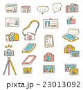 アイコン セット カメラのイラスト 23013092