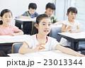 女の子 小学生 勉強の写真 23013344
