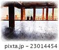 豊国神社千畳閣(絵画風)02 23014454