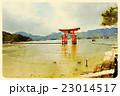 厳島神社(水彩画風01) 23014517