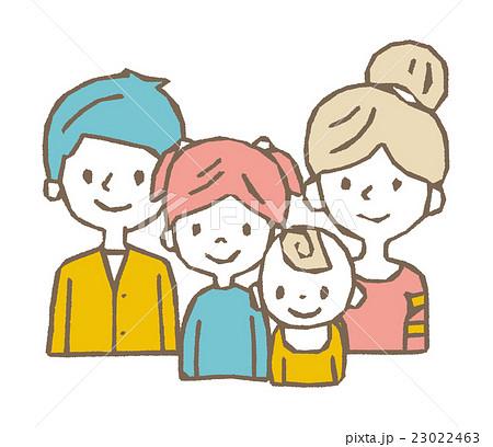 4人家族線画シリーズのイラスト素材 23022463 Pixta