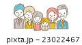 家族 ベクター クリップアートのイラスト 23022467