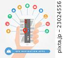 アプリ GPS モバイルのイラスト 23024556