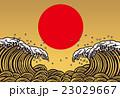 波 大波 和風のイラスト 23029667