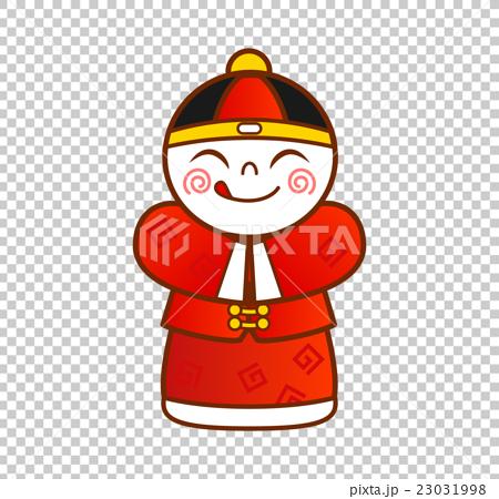 中国の伝統衣装を着た男の子 23031998
