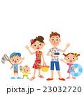 家族 夏休み 子供のイラスト 23032720