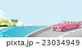 ドライブ 海 オープンカーのイラスト 23034949