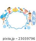 波 海 フレームのイラスト 23039796