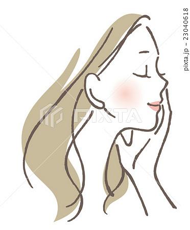 目を閉じる女性 23040618