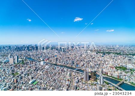 東京都市風景 23043234