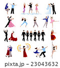 Dancing People Icons Set 23043632