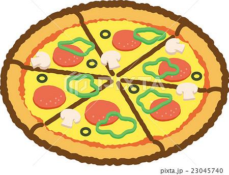 ピザのイラスト素材 23045740 Pixta