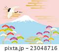 鶴 富士山 富士のイラスト 23048716