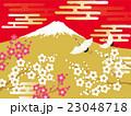 鶴 富士山 富士のイラスト 23048718