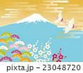 鶴 富士山 富士のイラスト 23048720