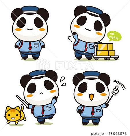 まるごとパンダ 警備員 23048878
