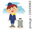 人物 働く女性 客室乗務員 23049965