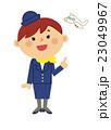 人物 働く女性 客室乗務員 23049967
