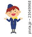 人物 働く女性 客室乗務員 23049968