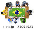 Brazil National Flag Business Team Meeting Concept 23051583