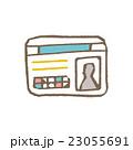 白バック ベクター 線画のイラスト 23055691