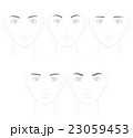 眉毛の形 ソフトなイメージ 23059453