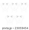 眉毛の形 シャープなメージ 23059454