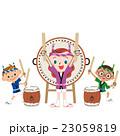 太鼓 子供 夏祭りのイラスト 23059819