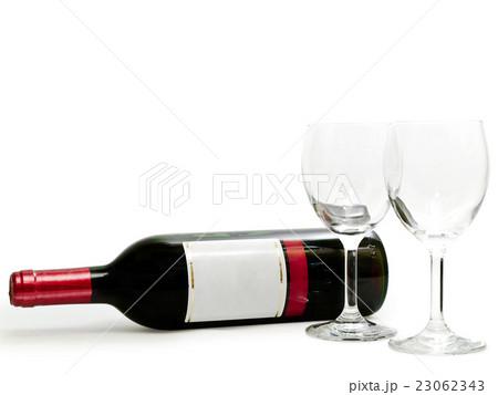 Red Wine with Wineglassesの写真素材 [23062343] - PIXTA