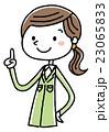 作業服の女性 チェックポイント 23065833