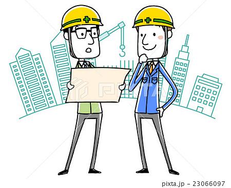 建設にかかわる作業服の男性 23066097