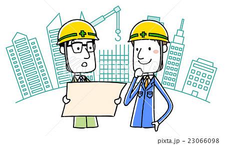建設にかかわる作業服の男性 23066098