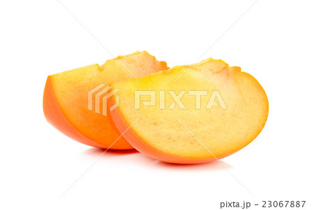 persimmon isolated on the white backgroundの写真素材 [23067887] - PIXTA