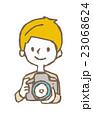 カメラと男性【線画・シリーズ】 23068624