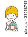 子供 カメラ 撮影のイラスト 23068743