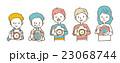 カメラマンのセット【線画・シリーズ】 23068744